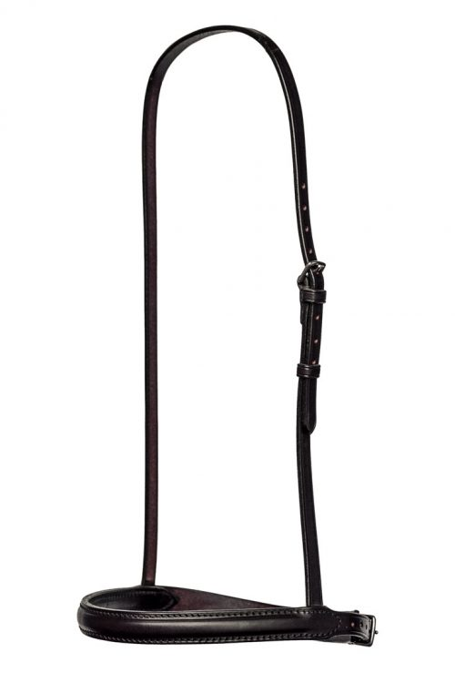Stitched & raised cavesson noseband by TC Leatherwork