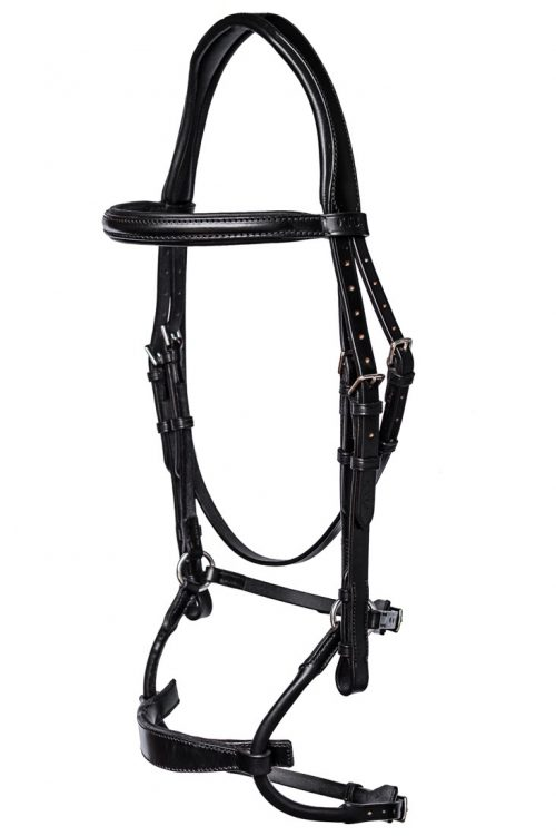 Anatomical bridle with ergonomic comfort noseband by TC Leatherwork
