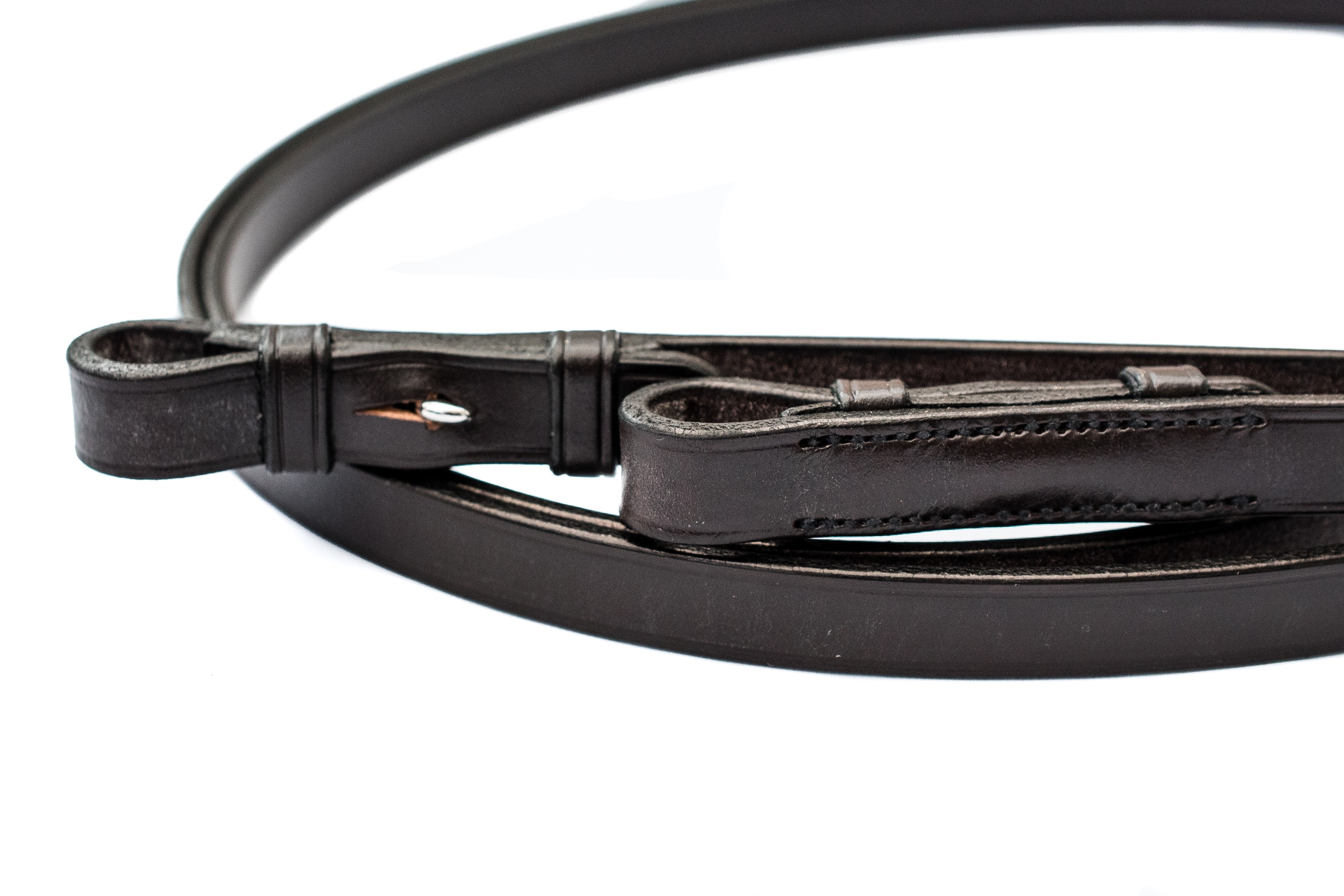 Top quality English leather plain reins by TC Leatherwork
