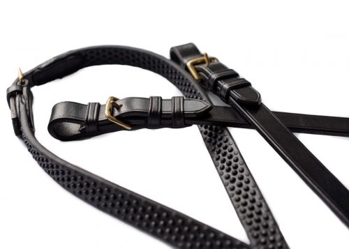 Bespoke leather reins by Somerset based TC Leatherwork