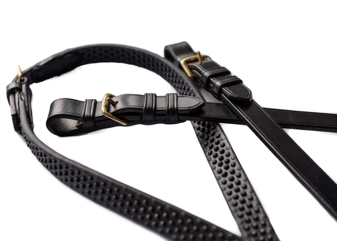 Bespoke leather reins by Somerset based TC Leatherwork