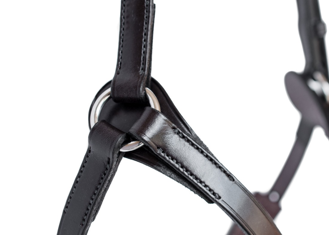 High Ring Grackle Noseband by Somerset based TC Leatherwork