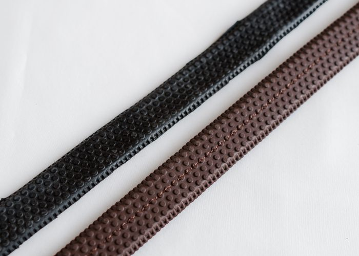 Rubber Reins from Somerset Master Saddler Tony Collins of TC Leatherwork