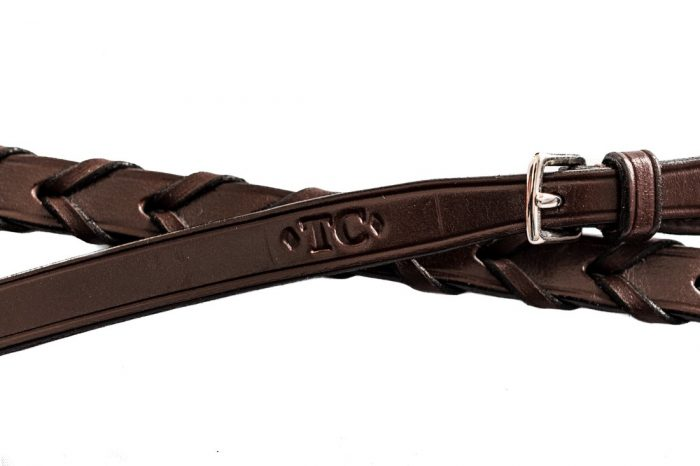 Hand Made British Leather Laced Reins by TC Leatherwork