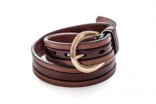 Bespoke leather belts made by Somerset based TC Leatherwork.