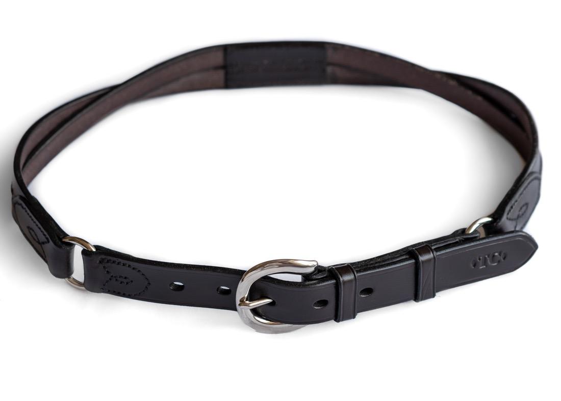 Twisted Design Leather Belt by TC Leatherwork