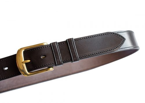 Stitched edge leather belts by Somerset based TC Leatherwork