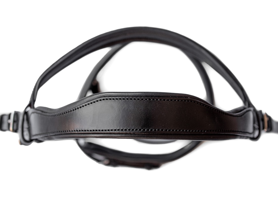Anatomical Padded Cutaway Headpiece Bridle by TC Leatherwork