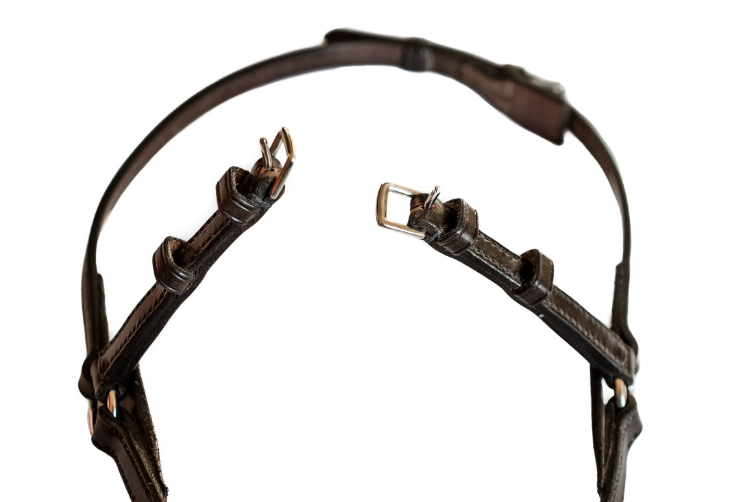 High Ring Grackle Noseband for Deluxe Comfort Anatomical bridles by TC Leatherwork