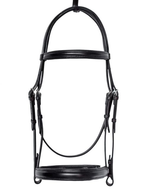 Top Quality bespoke English leather padded cavesson bridle by TC Leatherwork