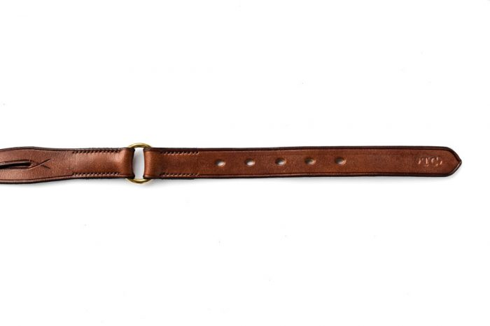 Leather belt in a twisted design by TC Leatherwork