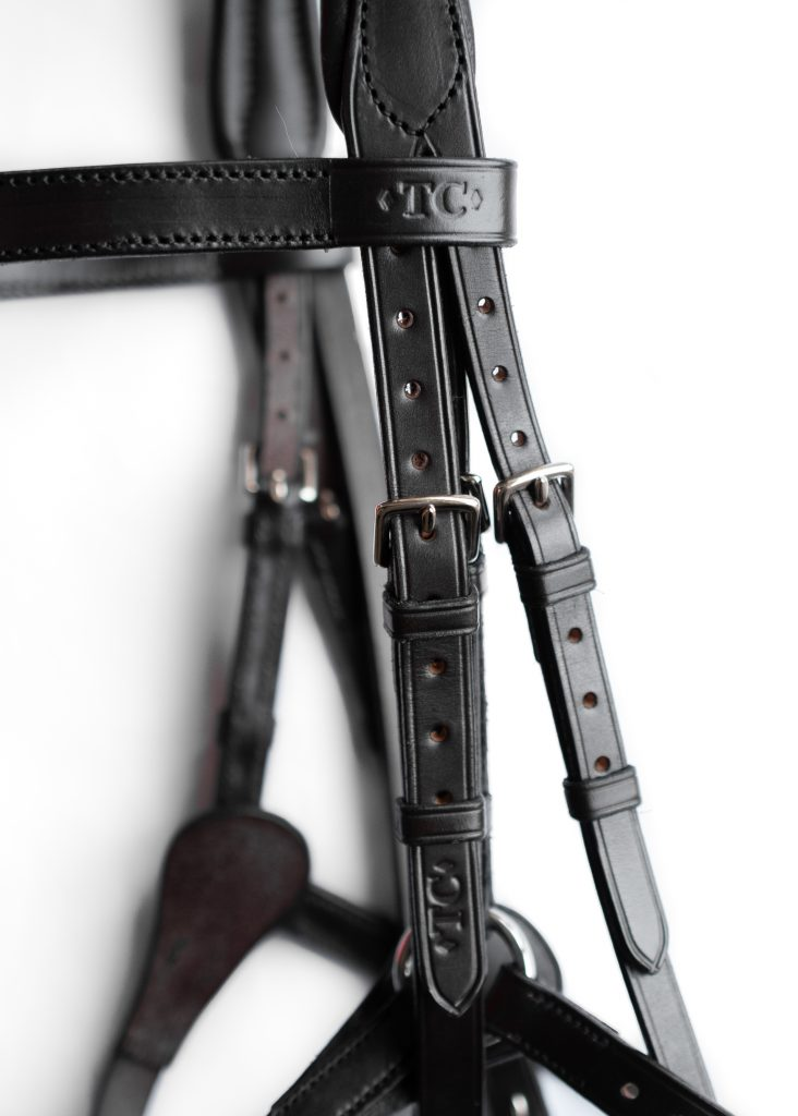 Made to Measure Customer Special e Grackle Bridle by TC Leatherwork