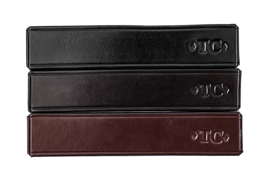 Standard bridle leather colour options by TC Leatherwork