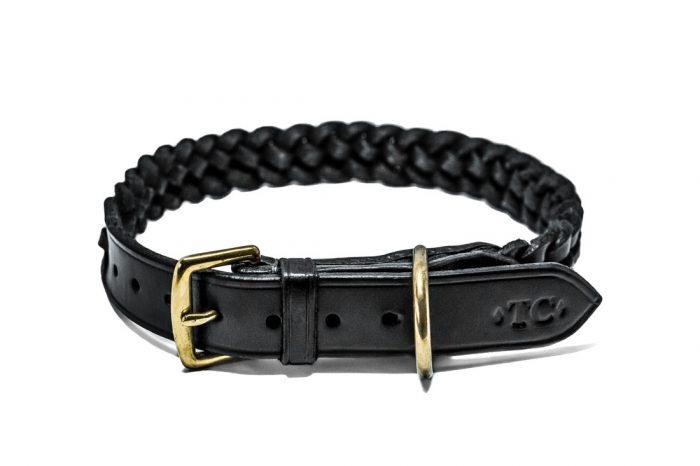 5 Plait Leather Dog Collar by TC Leatherwork
