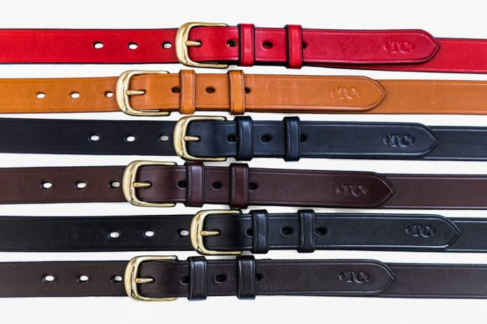 TC Leatherwork hand crafted bespoke English leather belts