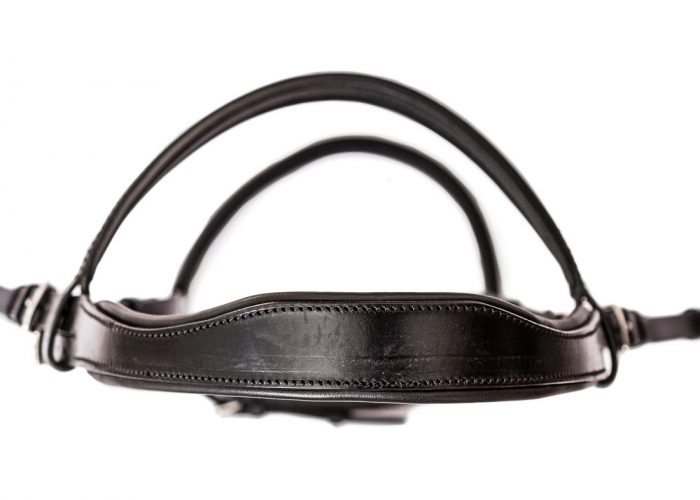 Anatomical padded bridle headpiece by TC Leatherwork
