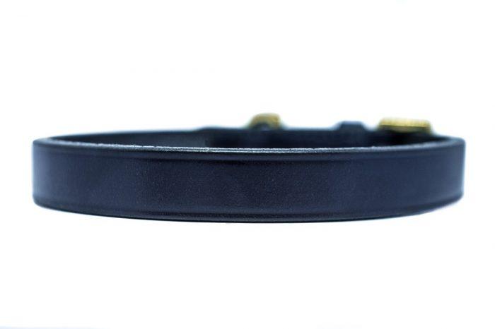 English leather navy dog collars by TC Leatherwork
