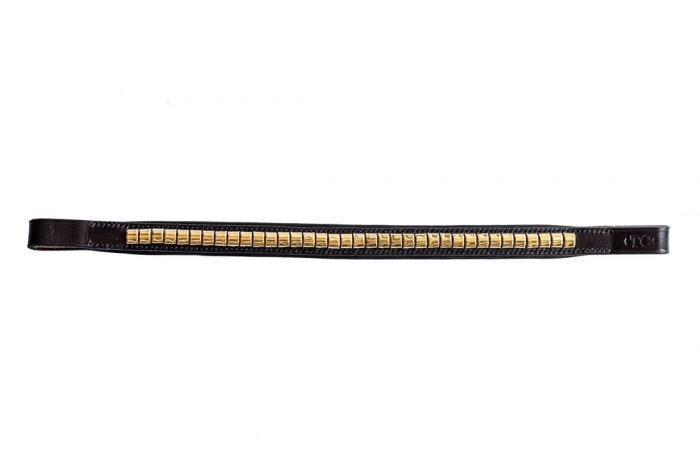 Padded brass clincher browband by TC Leatherwork