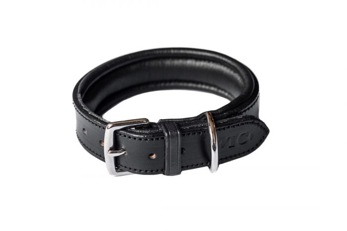 Padded Dog collar by Chard based saddler, Tony Collins.