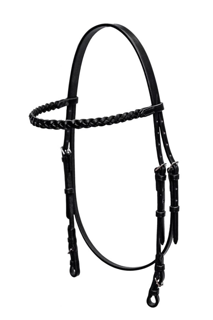 Bespoke Arab Bridle with Plaited browband by TC Leatherwork