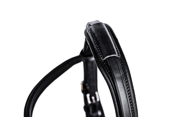 Anatomical combi bridle with removable bradoon slip head by TC Leatherwork
