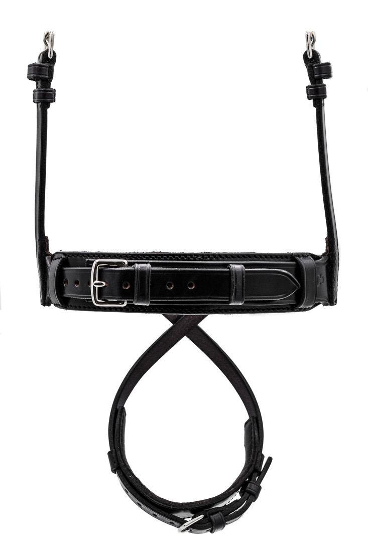 Deluxe Comfort Hunter Flash Noseband with Padded Chin by TC Leatherwork