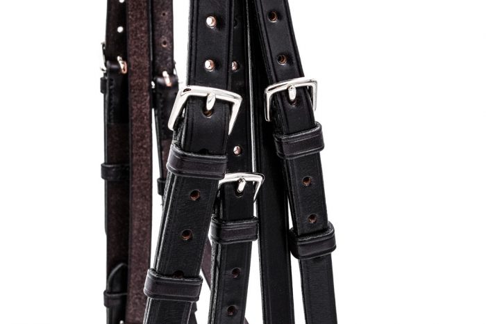 Traditionally cut Double hunter bridle by TC Leatherwork