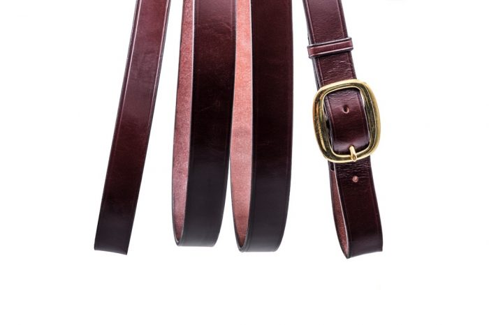 Leather showing lead rein by TC Leatherwork